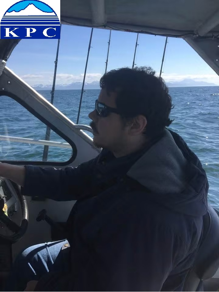 Person driving a boat