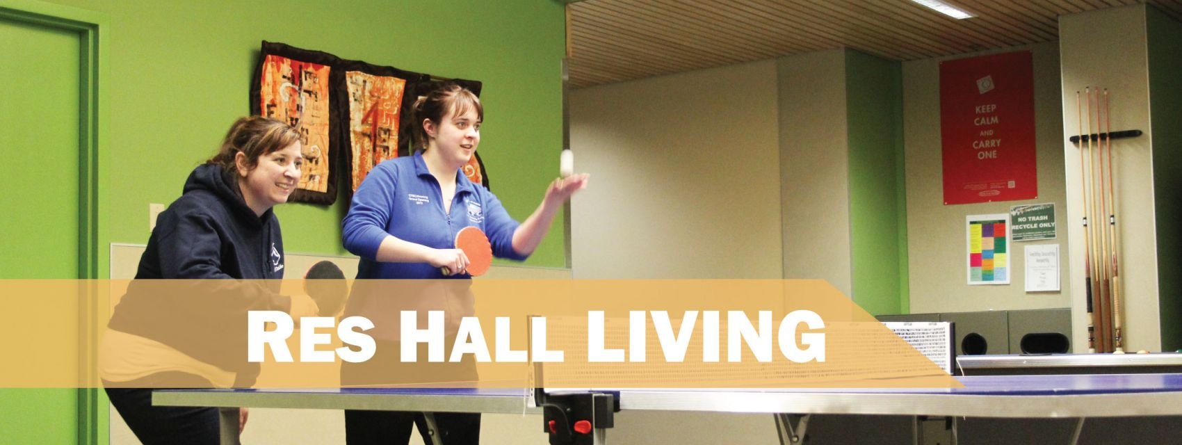 Res Hall Living - Playing games