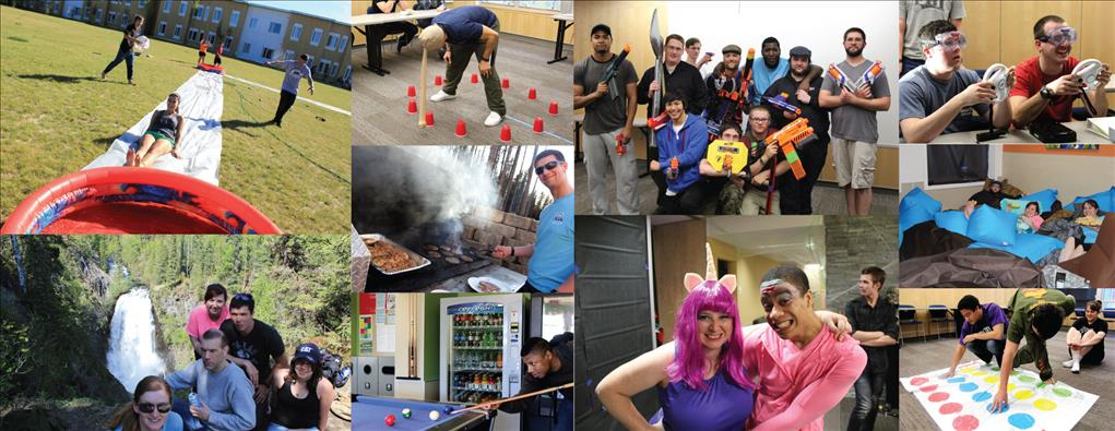collage of activities by Res Hall students